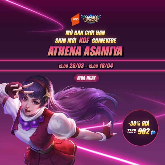Guinevere Athena Asamiya chính thức ra mắt