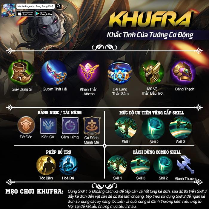 Mẹo chơi Khufra Mobile Legends: Bang Bang