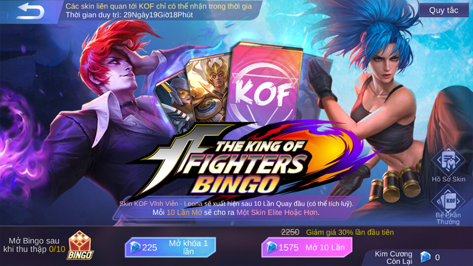 Hướng dẫn tham gia sự kiện KOF Bingo game Mobile Legends: Bang Bang