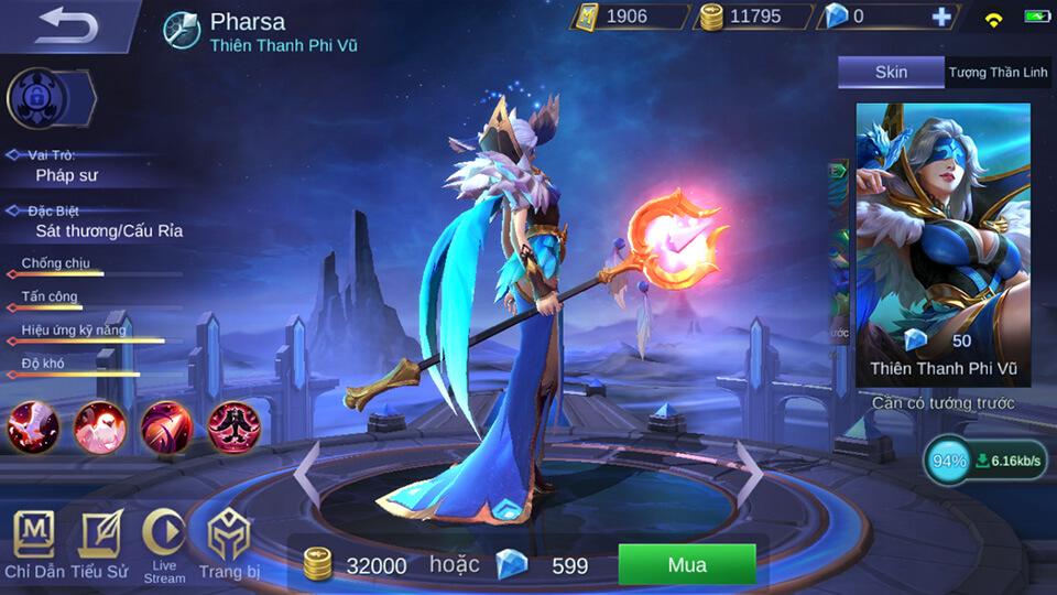 Pharsa Thiên Thanh Phi Vũ 4