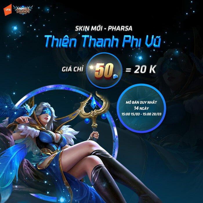 Pharsa Thiên Thanh Phi Vũ mở giới hạn trong 14 ngày
