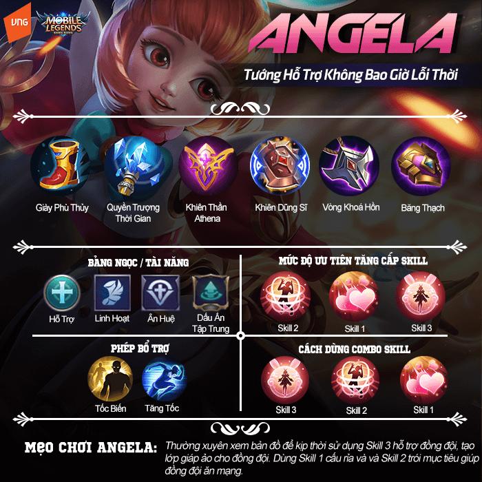 Hướng dẫn chơi Angela, hỗ trợ không bao giờ lỗi thời