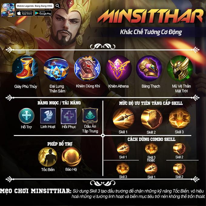 Hướng dẫn chơi Minsitthar: Khắc chế tướng cơ động