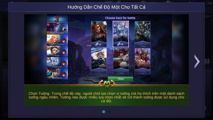 Quy tắc thi đấu Một Cho Tất Cả Mobile Legends: Bang Bang