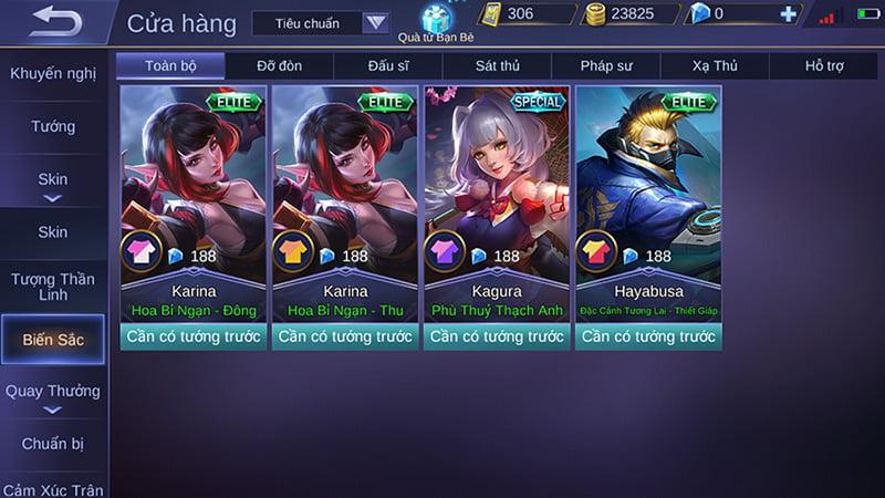 Trang phục biến sắc có mặt trong Mobile Legends: Bang Bang