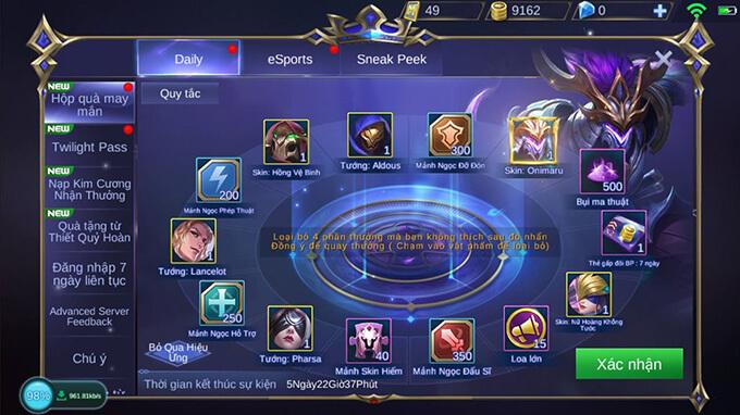 Hướng dẫn tham gia Hộp Quà May Mắn game Mobile Legends: Bang Bang - Hình ảnh 1