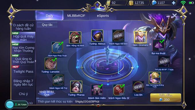 Hướng dẫn tham gia Hộp Quà May Mắn game Mobile Legends: Bang Bang - Hình ảnh 5