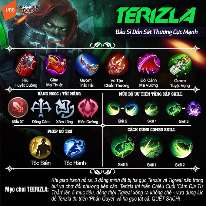 Hướng dẫn chơi Terizla: Đấu sĩ dồn sát thương cực mạnh