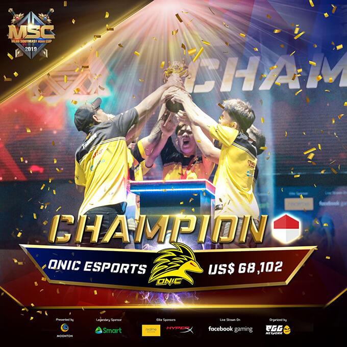 MSC 2019 Champion Onic Esports
