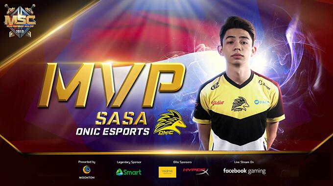 MSC 2019 MVP Sasa