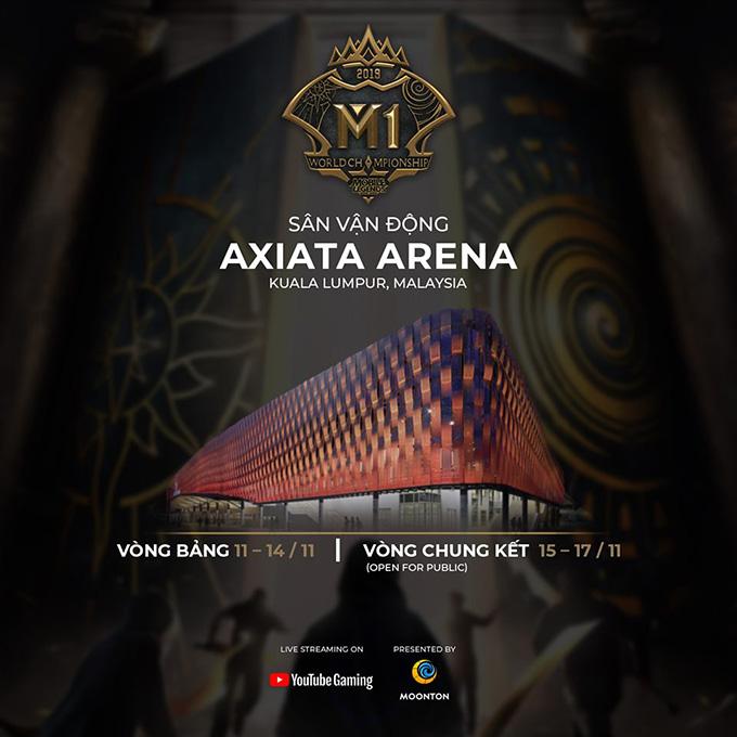 Vòng chung kết M1 sẽ diễn ra tại sân vận động Axiata, Kuala Lumpur, Malaysia