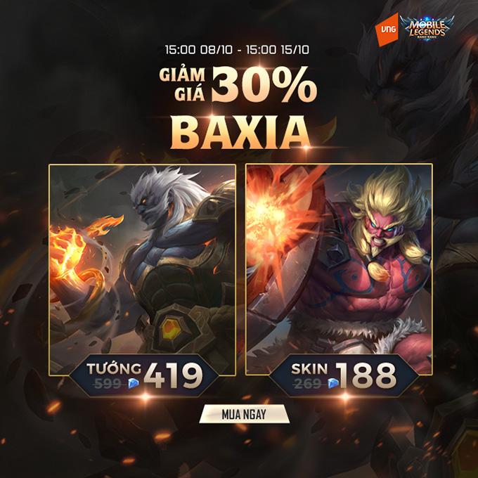 Baxia, Huyền Vũ, có mặt trong Mobile Legends: Bang Bang