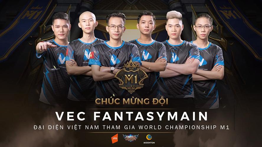 VEC Fantasy Main tham dự giải vô địch MLBB thế giới