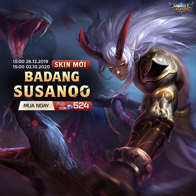 Badang Susanoo chính thức ra mắt, giá 749 Kim Cương