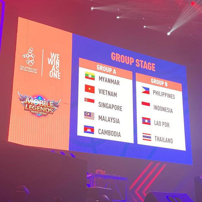 Lịch thi đấu vòng bảng SEA Games 30 nội dung Mobile Legends: Bang Bang