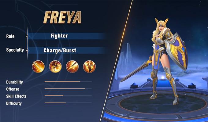 Hướng dẫn chơi Nữ Chiến Thần Freya phiên bản mới