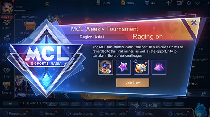 Cập nhật giao diện MCL để người chơi có thể xem dược phần thưởng từ cửa sổ pop-up