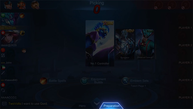 Trong giai đoạn cấm chọn, người chơi có thể sửa đổi phép bổ trợ, bảng ngọc, và skin sau khi chọn tướng xong.