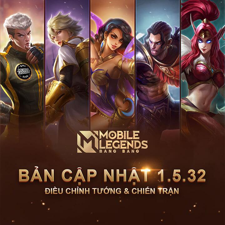 Hé lộ bản cập nhật Mobile Legends: Bang Bang 1.5.32 ra mắt vào ngày 24/11