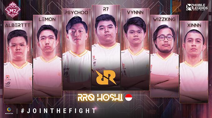 Đội hình thi đấu của RRQ Hoshi (Indonesia)