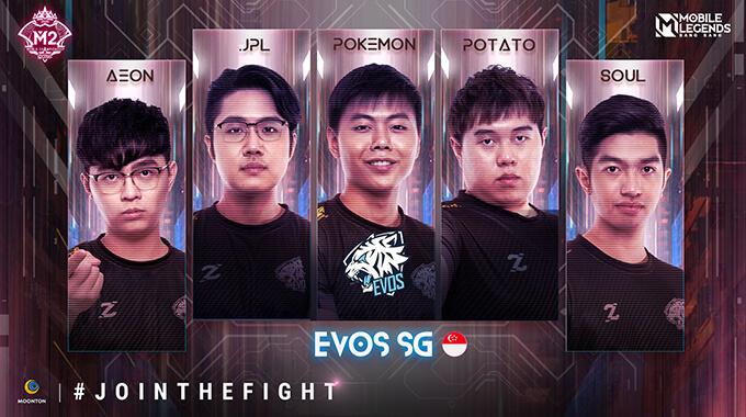 Đội hình thi đấu của EVOS SG (Singapore)