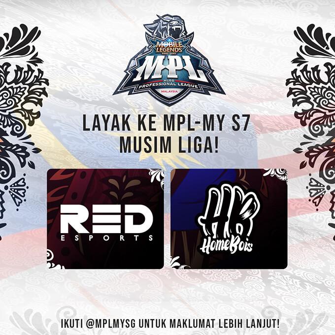 Red Esports và HomeBois là hai đội tuyển vượt qua vòng loại MPL MY Season 7