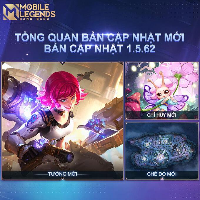 Mobile Legends: Bang Bang tiết lộ nội dung phiên bản 1.5.62