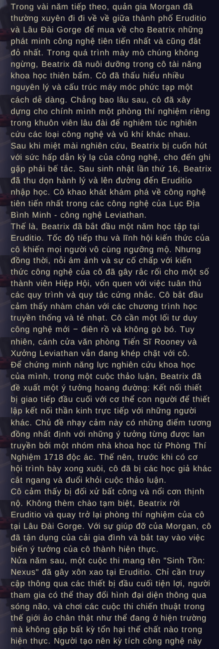 Tiểu sử Beatrix