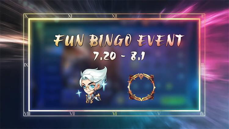 Sự kiện Bingo kỳ thú diễn ra từ ngày 20/07 đến ngày 01/08/2021.